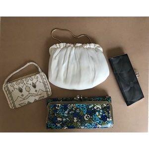 Bundle of 4 vintage retro accessories / purses